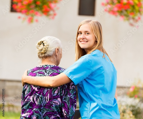Leinwanddruck Bild Professional Elderly Care