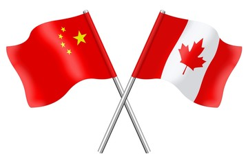 Flags: China and Canada