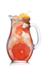 Grapefruit lemonade in pitcher