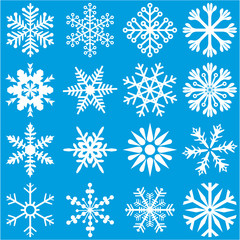 White Snowflakes Set 1