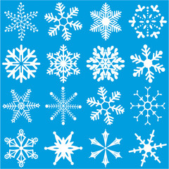 White Snowflakes Set 2