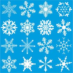 White Snowflakes Set 2