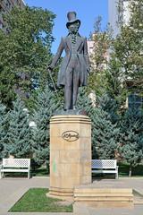 Monument of Alexander Pushkin in Baku, Azerbaijan