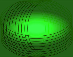 Green curve line background