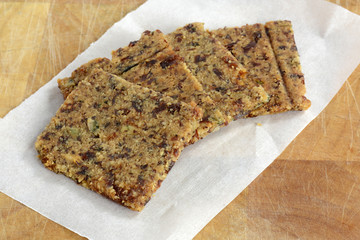 Gluten free cranberry almond crackers