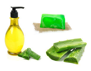 Gel bottle and aloe vera