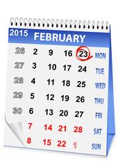 holiday calendar for 23 February
