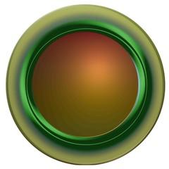Bouton rond web vert vierge