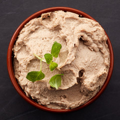 bowl of liver pate