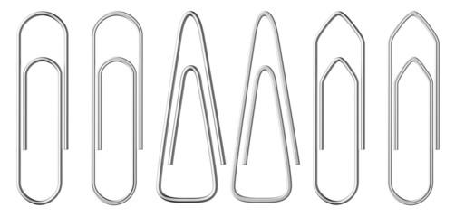 Metal paper-clips set