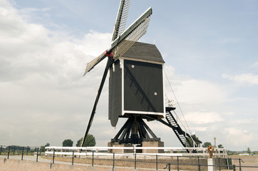 Mill in Heusden on the Maas in the Netherlands.