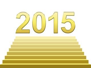 2015 Nouvelle année sur les marches