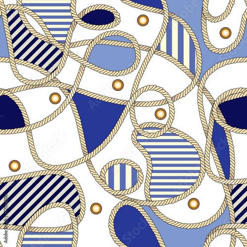 Cotton fabric nautical pattern