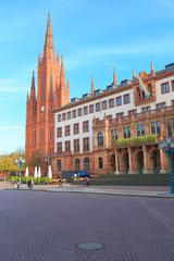 Wiesbaden (Neues Rathaus, Marktkirche) - Oktober 2014
