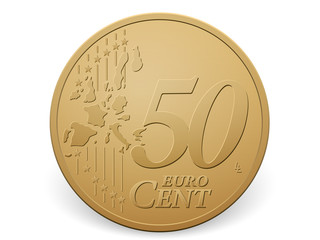 fifty euro cent coin