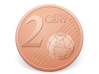 two euro cent coin