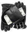 Mens wallet,money, belt and gloves