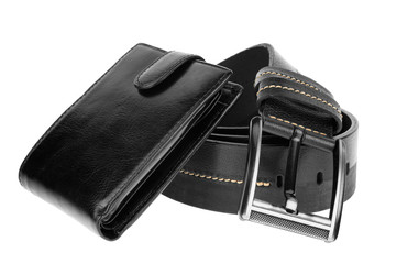 Mens wallet and  belt