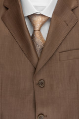 Jacket, tie and shirt, can be used as background