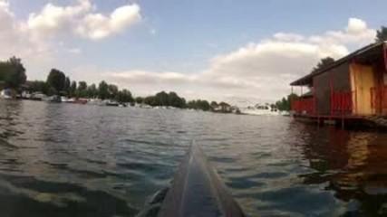 Kayaking in danube river