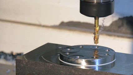 industrial details, metal threading