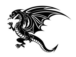 Angry black dragon