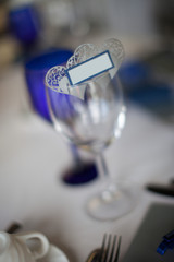 Macro Hearts with Small Tag on Wineglass