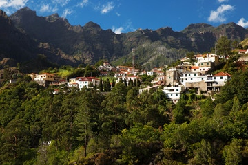 Small village located in the mountains