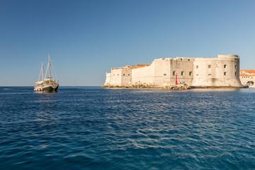 En bateau vers Dubrovnik
