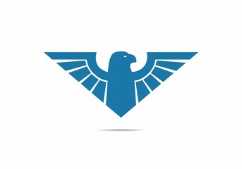 wings eagle bird abstract vector logo design luxury emblem icon