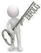 Männchen Schlüssel zum Erfolg silber.