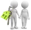 Pärchen mit Hausschlüssel