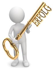 Männchen Schlüssel zum Erfolg