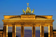 canvas print picture - The Brandenburger Tor in the evening in Berlin, Germany