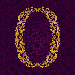 Gold font type letter O, uppercase.