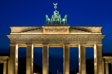 The Brandenburger Tor in the evening in Berlin, Germany