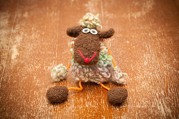 Toy sheep - a symbol of New Year
