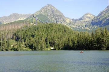 Strbske pleso lake in High Tatra Mountains, Slovakia