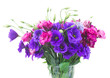 bouquet  of  purple and mauve eustoma flowers