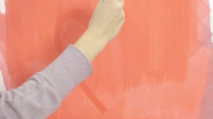 Pretty woman painting