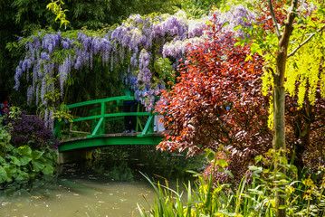 Spring gardens of Giverny, France