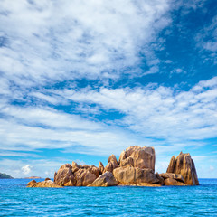 Granite rock's island, Seychelles