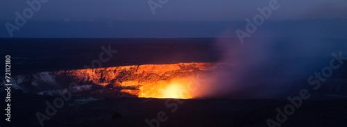 Leinwanddruck Bild Halemaumau Crater