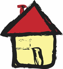 doodle house icon