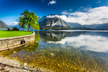 Mountain lake in Hallstatt