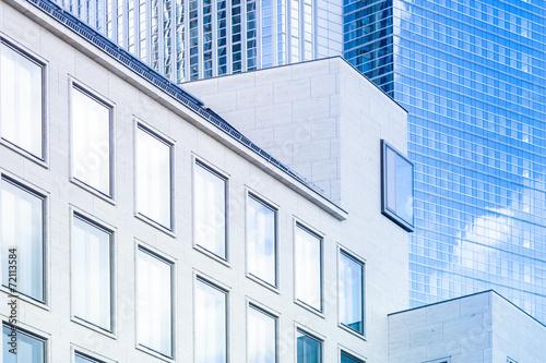 Leinwandbild Motiv moderne Gebäude in Frankfurt   - Hochhaus