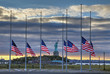 US Flags at half staff in on September 11, 2014 - 72113786
