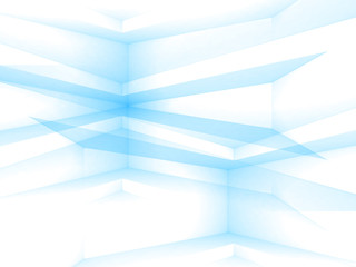 Abstract white and blue 3d geometric background