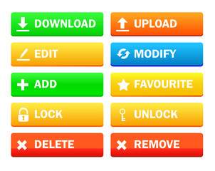 Set of modern icon for site, Collection
