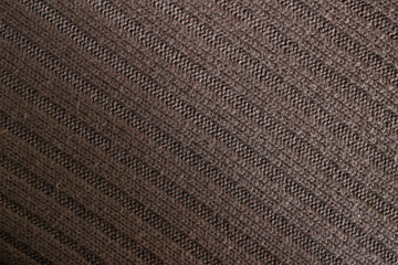 Brown woolen knitted fabric